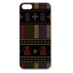 Tardis Doctor Who Ugly Holiday Apple Seamless iPhone 5 Case (Clear)