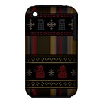 Tardis Doctor Who Ugly Holiday Apple iPhone 3G/3GS Hardshell Case (PC+Silicone)