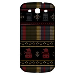 Tardis Doctor Who Ugly Holiday Samsung Galaxy S3 S Iii Classic Hardshell Back Case by Onesevenart