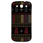 Tardis Doctor Who Ugly Holiday Samsung Galaxy S3 S III Classic Hardshell Back Case