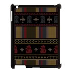 Tardis Doctor Who Ugly Holiday Apple iPad 3/4 Case (Black)