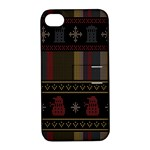 Tardis Doctor Who Ugly Holiday Apple iPhone 4/4S Hardshell Case with Stand