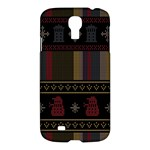 Tardis Doctor Who Ugly Holiday Samsung Galaxy S4 I9500/I9505 Hardshell Case