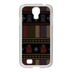 Tardis Doctor Who Ugly Holiday Samsung Galaxy S4 I9500/ I9505 Case (white) by Onesevenart