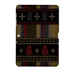 Tardis Doctor Who Ugly Holiday Samsung Galaxy Tab 2 (10.1 ) P5100 Hardshell Case
