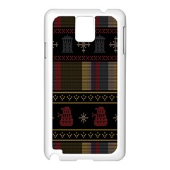 Tardis Doctor Who Ugly Holiday Samsung Galaxy Note 3 N9005 Case (white) by Onesevenart