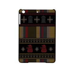 Tardis Doctor Who Ugly Holiday Ipad Mini 2 Hardshell Cases by Onesevenart