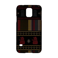 Tardis Doctor Who Ugly Holiday Samsung Galaxy S5 Hardshell Case  by Onesevenart