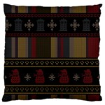 Tardis Doctor Who Ugly Holiday Large Flano Cushion Case (Two Sides)