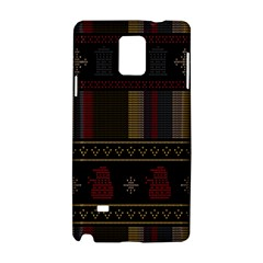 Tardis Doctor Who Ugly Holiday Samsung Galaxy Note 4 Hardshell Case by Onesevenart