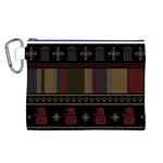 Tardis Doctor Who Ugly Holiday Canvas Cosmetic Bag (L)
