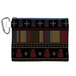 Tardis Doctor Who Ugly Holiday Canvas Cosmetic Bag (XL)