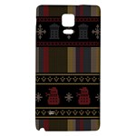 Tardis Doctor Who Ugly Holiday Galaxy Note 4 Back Case