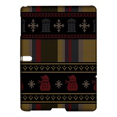 Tardis Doctor Who Ugly Holiday Samsung Galaxy Tab S (10 5 ) Hardshell Case  by Onesevenart