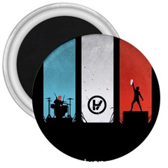 Twenty One 21 Pilots 3  Magnets by Onesevenart