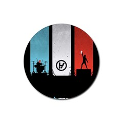 Twenty One 21 Pilots Rubber Coaster (round)  by Onesevenart