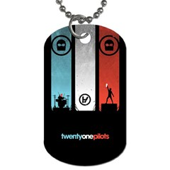 Twenty One 21 Pilots Dog Tag (one Side) by Onesevenart
