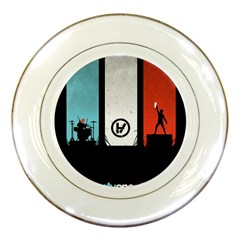 Twenty One 21 Pilots Porcelain Plates by Onesevenart