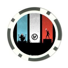 Twenty One 21 Pilots Poker Chip Card Guards (10 Pack)  by Onesevenart