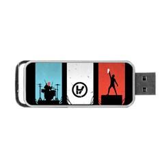 Twenty One 21 Pilots Portable Usb Flash (one Side) by Onesevenart