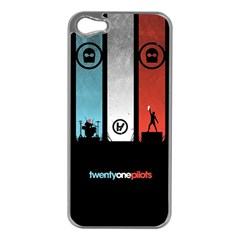 Twenty One 21 Pilots Apple Iphone 5 Case (silver) by Onesevenart