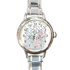 Twenty One Pilots Birds Round Italian Charm Watch by Onesevenart