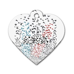 Twenty One Pilots Birds Dog Tag Heart (two Sides) by Onesevenart