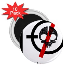 Twenty One Pilots Skull 2 25  Magnets (10 Pack)  by Onesevenart