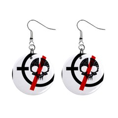 Twenty One Pilots Skull Mini Button Earrings by Onesevenart