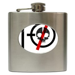 Twenty One Pilots Skull Hip Flask (6 Oz) by Onesevenart