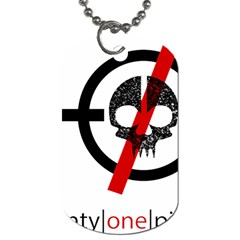 Twenty One Pilots Skull Dog Tag (two Sides) by Onesevenart