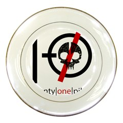 Twenty One Pilots Skull Porcelain Plates by Onesevenart