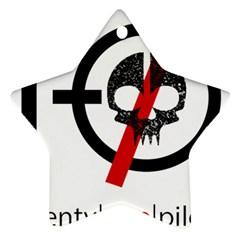 Twenty One Pilots Skull Star Ornament (two Sides)  by Onesevenart