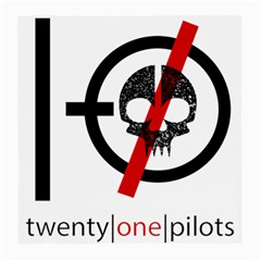 Twenty One Pilots Skull Medium Glasses Cloth by Onesevenart