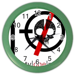 Twenty One Pilots Skull Color Wall Clocks by Onesevenart