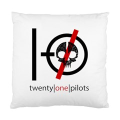 Twenty One Pilots Skull Standard Cushion Case (one Side) by Onesevenart