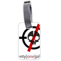 Twenty One Pilots Skull Luggage Tags (One Side)  by Onesevenart
