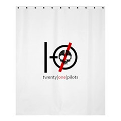 Twenty One Pilots Skull Shower Curtain 60  X 72  (medium)  by Onesevenart