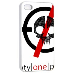Twenty One Pilots Skull Apple Iphone 4/4s Seamless Case (white) by Onesevenart