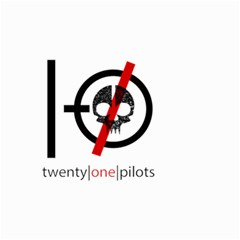 Twenty One Pilots Skull Small Garden Flag (two Sides) by Onesevenart