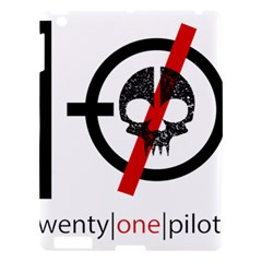 Twenty One Pilots Skull Apple Ipad 3/4 Hardshell Case by Onesevenart