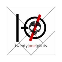 Twenty One Pilots Skull Acrylic Tangram Puzzle (6  X 6 ) by Onesevenart