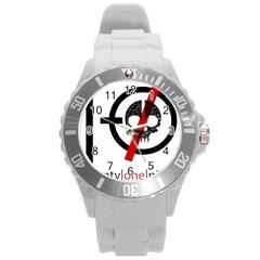 Twenty One Pilots Skull Round Plastic Sport Watch (l) by Onesevenart