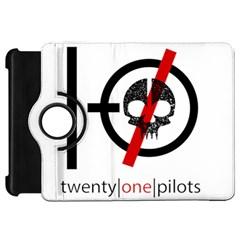 Twenty One Pilots Skull Kindle Fire Hd Flip 360 Case by Onesevenart