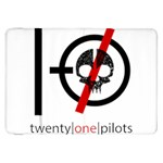 Twenty One Pilots Skull Samsung Galaxy Tab 8.9  P7300 Flip Case