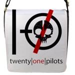 Twenty One Pilots Skull Flap Messenger Bag (S)