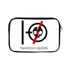 Twenty One Pilots Skull Apple Ipad Mini Zipper Cases by Onesevenart