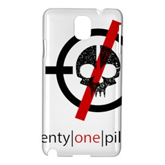 Twenty One Pilots Skull Samsung Galaxy Note 3 N9005 Hardshell Case by Onesevenart