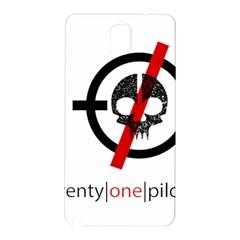 Twenty One Pilots Skull Samsung Galaxy Note 3 N9005 Hardshell Back Case by Onesevenart