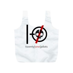 Twenty One Pilots Skull Full Print Recycle Bags (s)  by Onesevenart